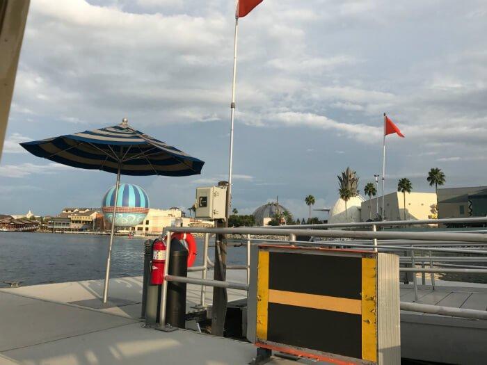 Disney Springs boat dock transportation Port Orleans French Quarter hotel