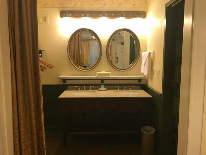 Port Orleans French Quarter hotel room bathroom Disney resort
