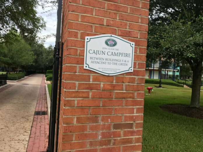 Cajun Campfire sign Disney's Port Orleans French Quarter resort hotel