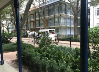 Disney Port Orleans French Quarter hotel horse and carriage