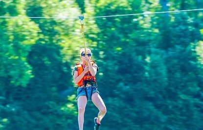 Discount price for Adventure Park ziplining in Pigeon forge Tennessee