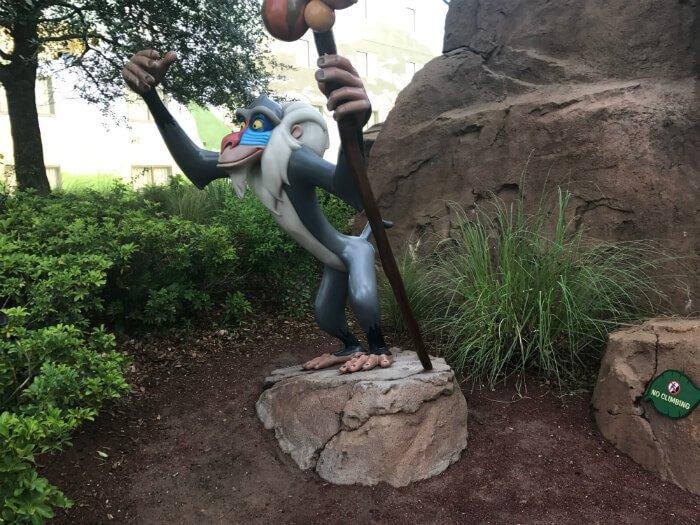 Rafiki in Lion King part of Disney's Art of Animation hotel