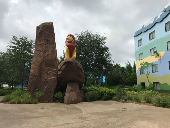 Lion King statue Disney's Art of Animation resort hotel
