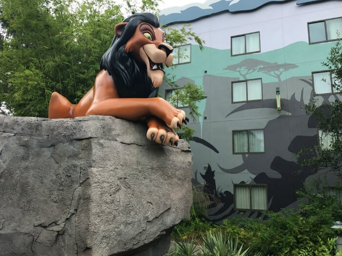 Disney's Art of Animation outside Lion King hotel buildngs