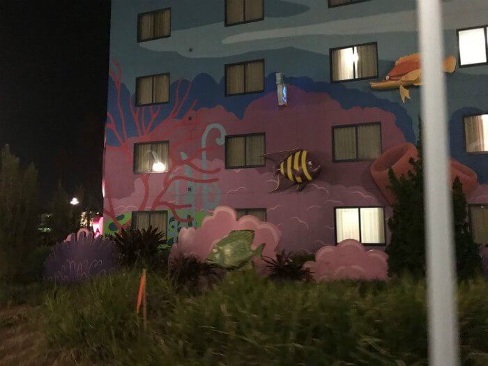 Disney's Art of Animation hotel outside Finding Nemo building