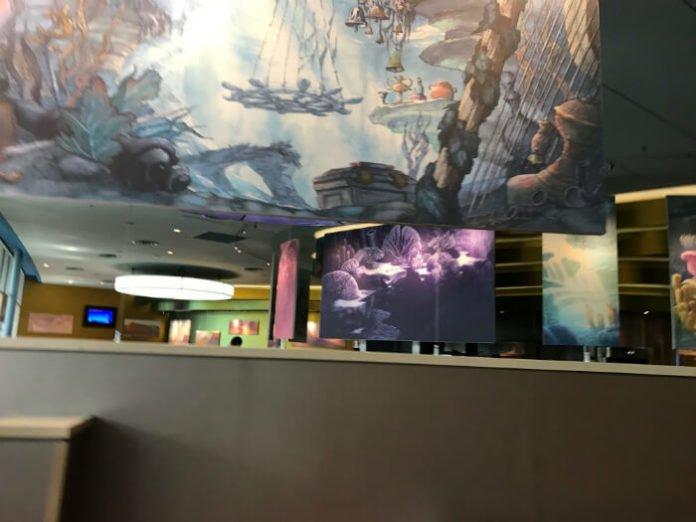 Art of Animation food court paintings Disney hotel