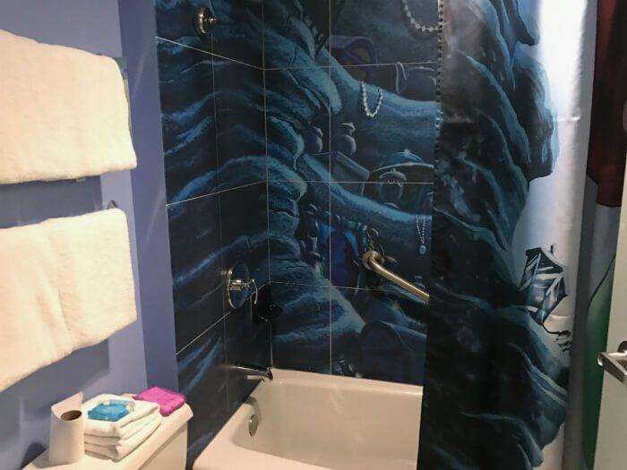 bathroom Little Mermaid room at Disney's Art of Animation hotel