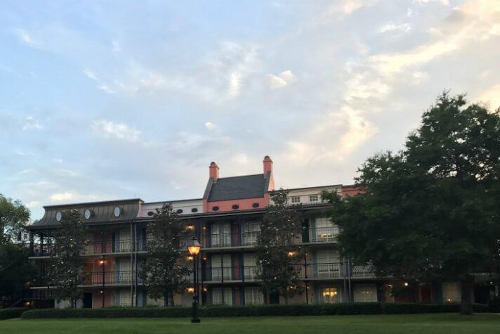 Port Orleans French Quarter hotel building