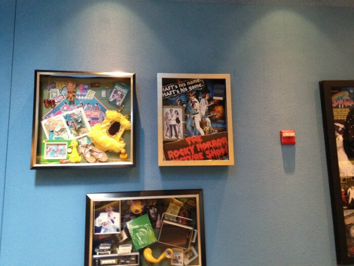 Star Wars, Rocky Horror Picture Show, 70s pictures in hotel lobby of Disney's Pop Century Resort