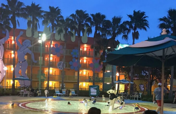 children's pool at Disney's Pop Century Resort hotel