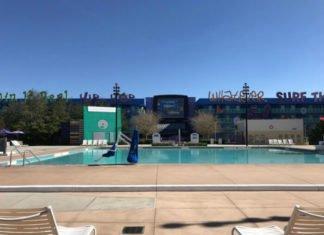 Computer Pool in 1990s section of Disney's Pop Century Resort hotel