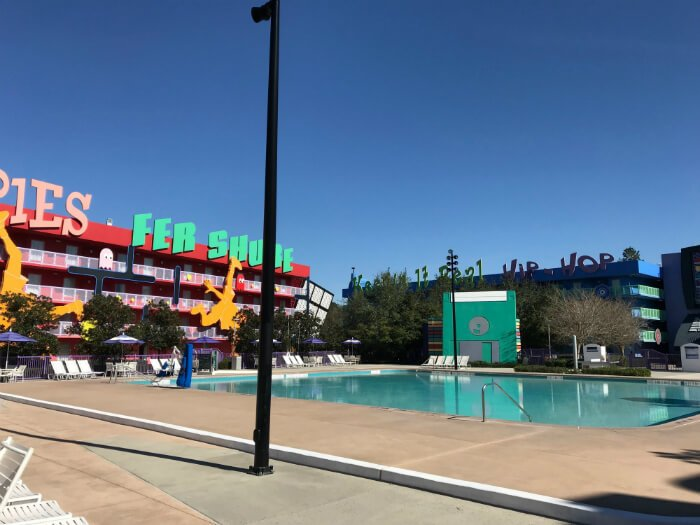 Computer Pool at Pop Century hotel nineties section at Disney World