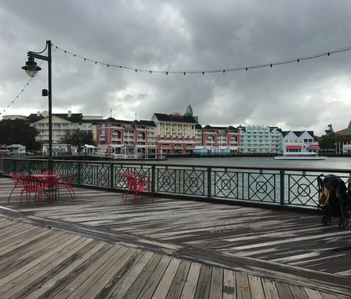 Great waterfront dining options bakery pizza seafood at Disney's Boardwalk Inn