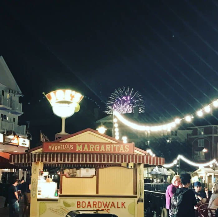 See great views of EPCOT Illuminations fireworks when staying at Boardwalk hotel
