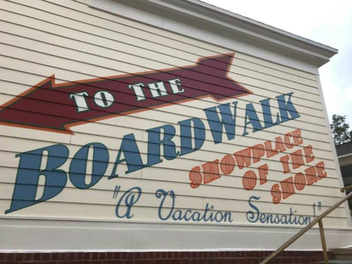 Decorations on outside of Boardwalk Inn WDW Orlando Florida
