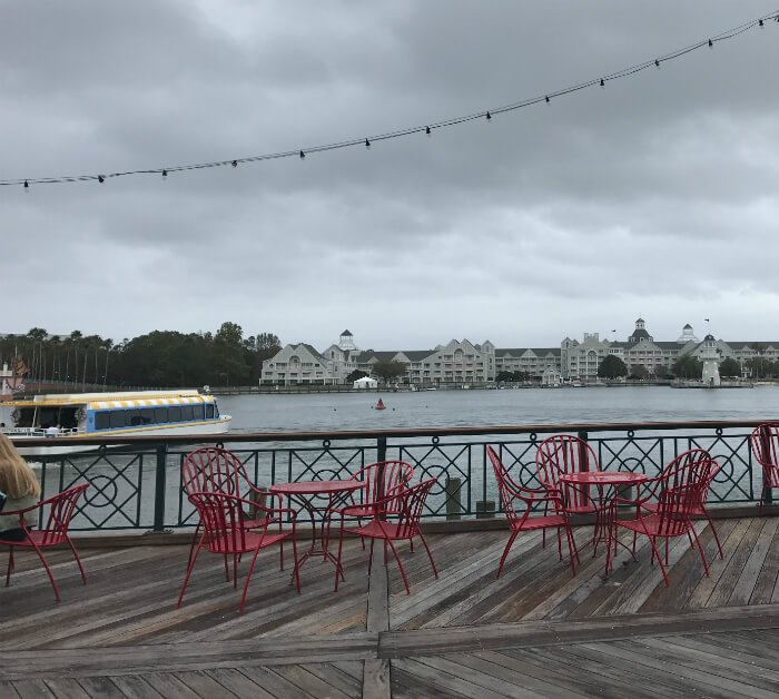 Get views of boat Yacht & beach club when dining at Disney's Boardwalk