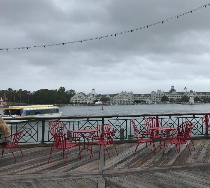 Get views of boat Yacht & beach club when dining at Disney's Boardwalk