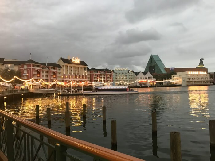Take a boat ride from Boardwalk Inn hotel to EPCOT & Hollywood Studios