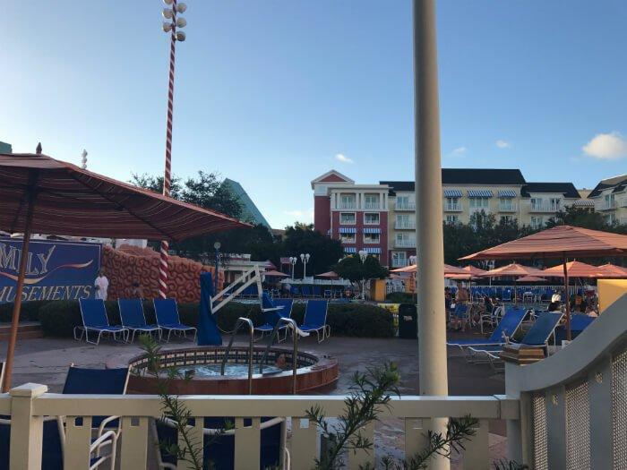 Hot tub at Boardwalk Inn at Walt Disney World in Orlando Florida