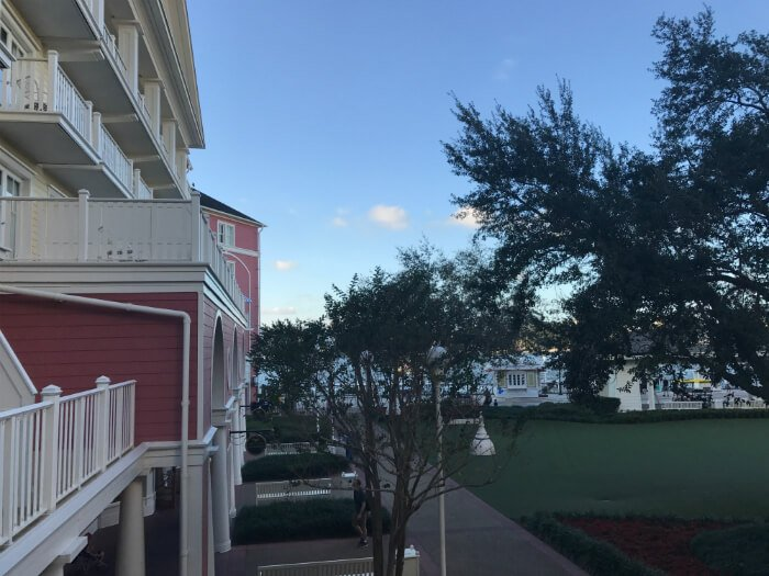 Theming on the outside of Boardwalk Inn hotel at Disney World