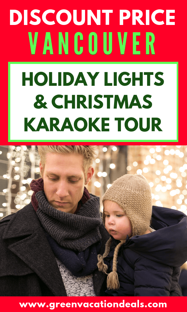 Great Christmas activities for single adults or families in Vancouver, British Columbia. Take a trolley tour where you can enjoy karaoke with Christmas songs, stop at Bright Nights display in Stanley Park & VanDusen Botanical Garden's Festival of Light