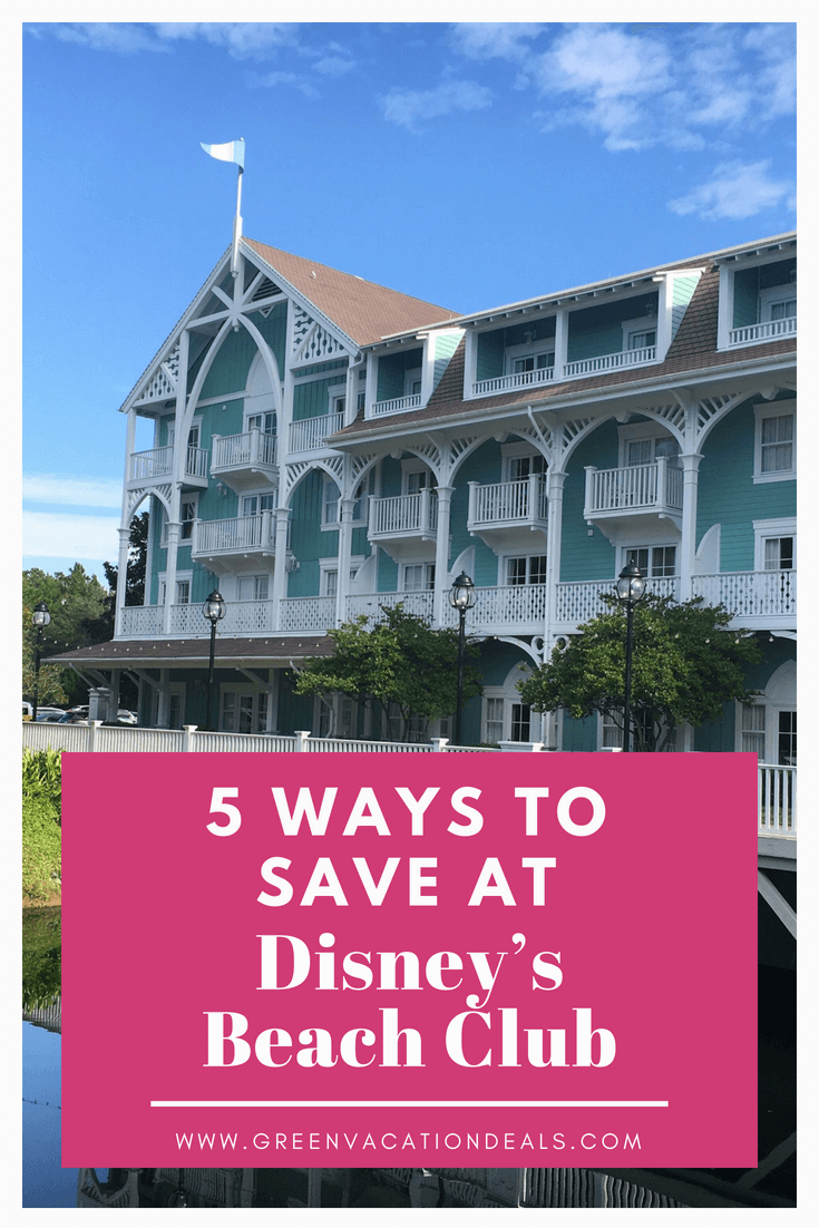 Stay at Beach Club, a deluxe hotel at Walt Disney World Resort in Orlando, Florida, but stay at a fraction of the cost by using one of these 5 ways to save money. How you can give your family an amazing Disney World vacation for cheap