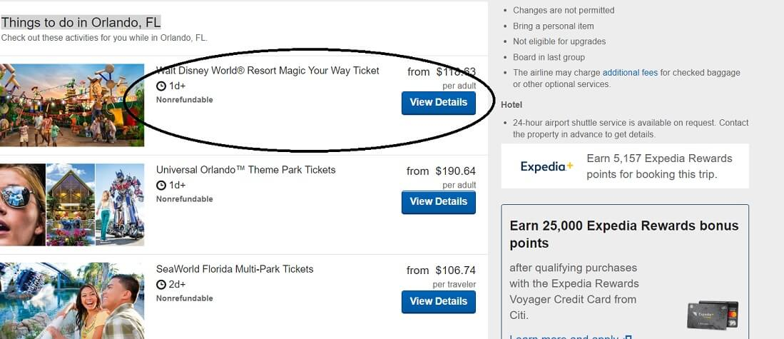 How to add Walt Disney World tickets to Orlando vacation packages