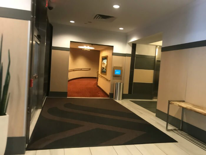 Wyndham Grand Pittsburgh Downtown lobby with hallway ramp