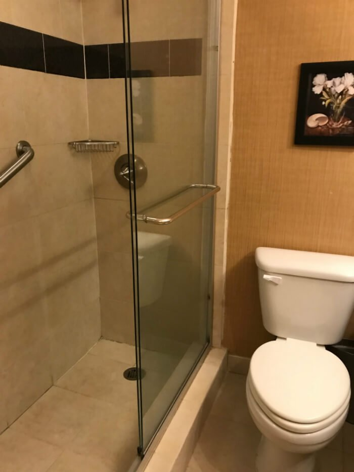 Spacious Shower & bathroom at Wyndham Pittsburgh Downtown