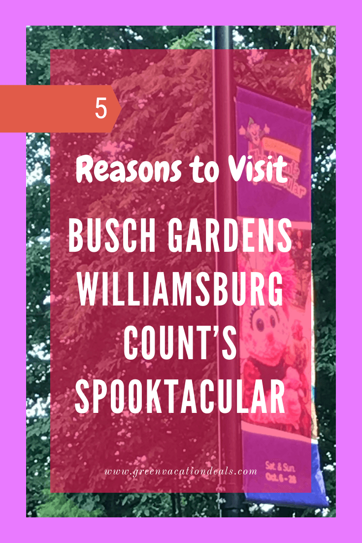 5 reasons why you should take your children to Count's Spooktacular at Busch Gardens in Williamsburg Virginia, a family friendly Sesame Street Halloween event
