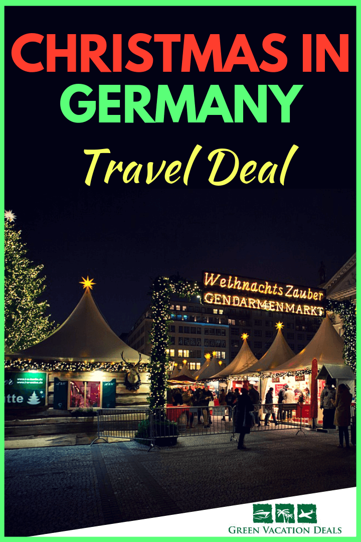 How to save 10% on Christmas in Germany travel deal, a 4-day vacation package that includes meals, hotel accommodations in Berlin, hop-on, hop-off bus tour in Berlin & Dresden, visits to Gendarmenmarkt & Striezelmarkt Christmas markets & round trip train fare from Berlin to Dresden. Enjoy the colorful festive lights that adorn Berlin during the Advent period & the largest & oldest Christmas market in Germany in Dresden. Act now for a once in a lifetime holiday trip