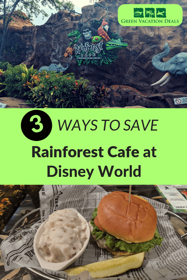 Every time I take a trip to Walt Disney World in Orlando, Florida, I make sure to have one meal at the Rainforest Cafe at Animal Kingdom. Not only is the food delicious (my favorite is the Caribbean Coconut Fried Shrimp), but I love the rainforest atmosphere with the great animal animatronics. Plus, it's a sit down restaurant in an air conditioned building with a bar. I'll let you know 3 Disney secrets on how you can save money there - or eat there for free!