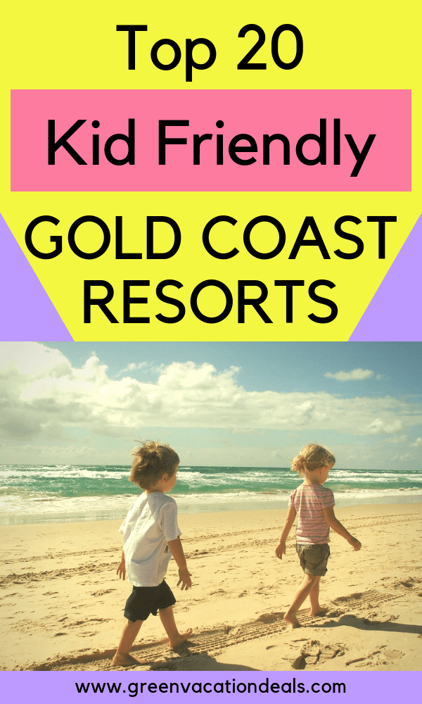 Travelling with children to Gold Coast, Australia? Stay at one of these hotels, considered the best Gold Coast family resorts: Turtle Beach, Hilton Surfers Paradise Residences, Paradise Resort, Sea World Resort, Artique, Broadbeach Holiday Apartments, NRMA Treasure Island, Watermark, Q1 Resort & Spa, Peppers, Xanadu Main Beach, Blue Waters, Mantra Towers of Chevron, Mercure, Novotel Surfers Paradise, Ocean Pacific, RACV Royal Pines, Sandcastles, Peppers, Meriton Suites