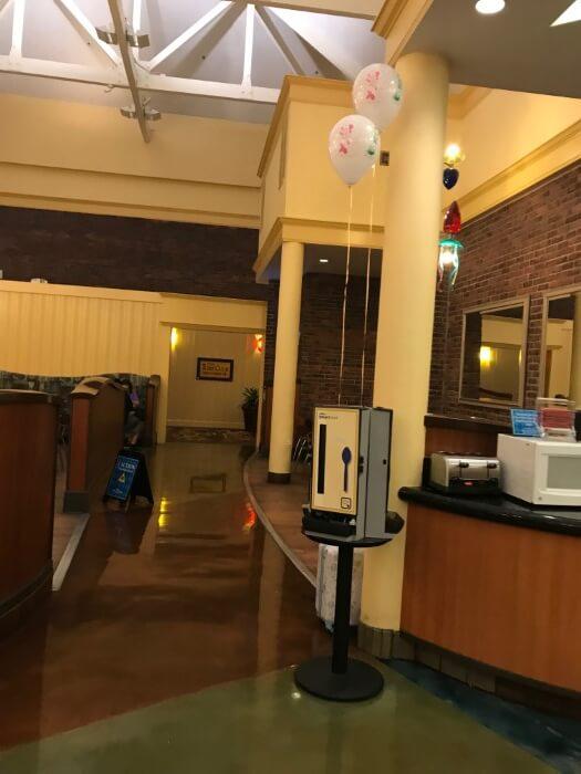 inside food court in Disney's Saratoga Spring Resort