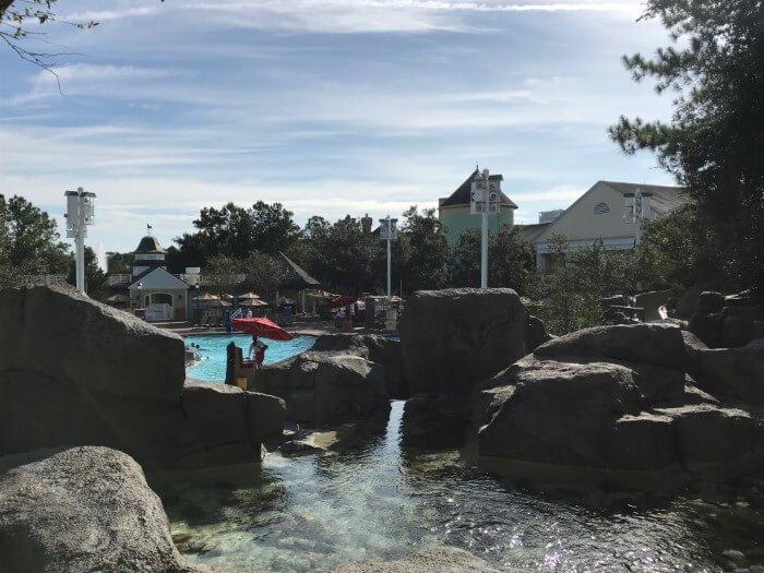 Saratoga Springs pool at Disney World hotel in Orlando
