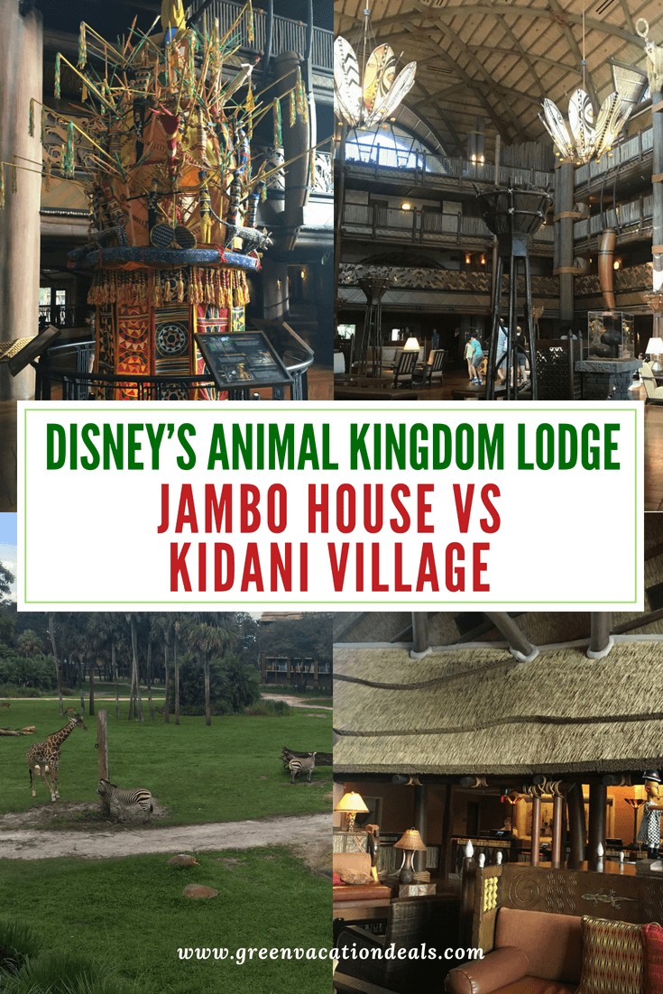 You may have heard about Disney's Animal Kingdom Lodge, a luxury African-themed Walt Disney World hotel where you can literally watch giraffes & zebras outside your hotel room. You may have also noticed you could book a stay at Jambo House or Kidani Village & wondered what that meant. We'll explain to you the difference between the 2 sections, and let you know which section has the best dining, rooms, beds, parking & how you get the cheapest AKL stay