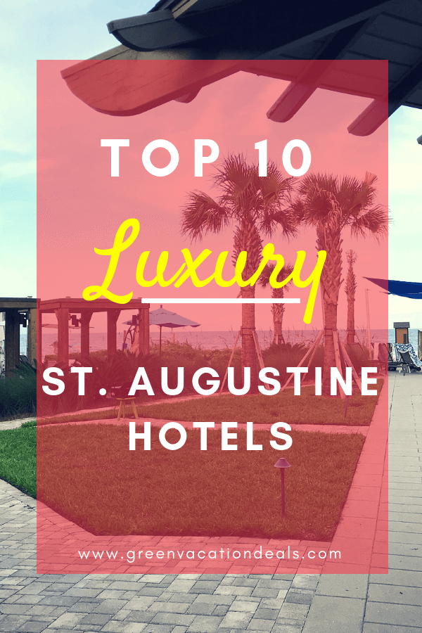 St. Augustine, Florida is America's oldest city with so much to see & do. If you want to visit St. Augustine & do it in style, consider booking one of these hotels, ranked as the best First Coast luxury hotels: The Collector Luxury Inn & Gardens, World Golf Village Renaissance, Casa Monica, Pearl of the Sea Luxury Bed & Breakfast, Ocean Gate at Hibiscus, Sand Castle, Southern Tides, Water Street Vacations, Hammock Beach a Salamander Golf & Spa Resort, Sawgrass Marriott