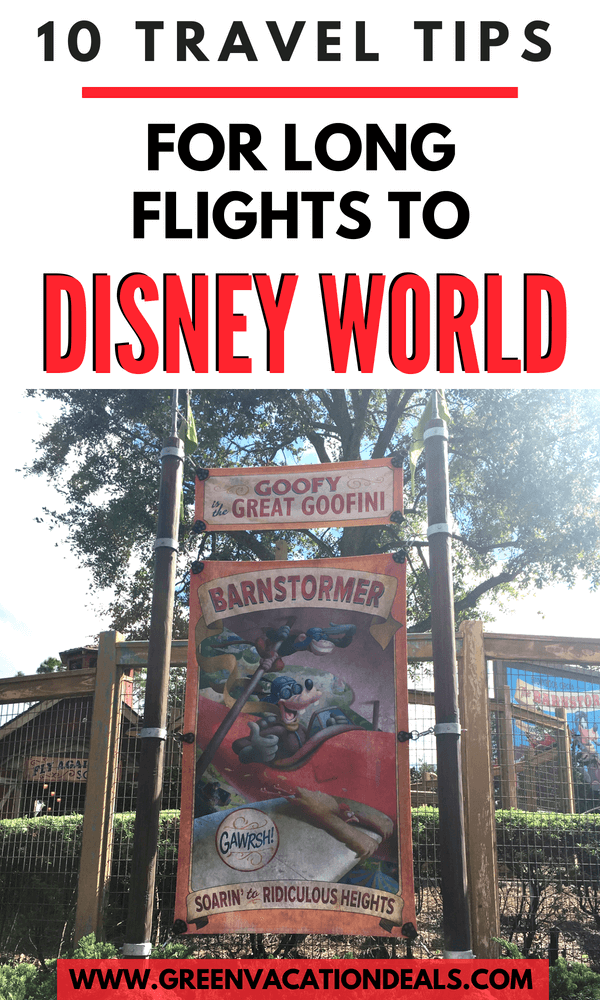 If you're planning a family vacation at Walt Disney World in Orlando, Florida that requires a long flight (like from Dublin, LA, Phoenix, Denver, Toronto, etc.) then here are 10 must see travel tips. Find out why you should book a hotel on-site, an overnight flight with comfortable seats, consider a long layover. Find out what to purchase beforehand (portable charger for your electronics, good headphones, carry on luggage, reading, travel neck pillow, sleep mask), etc.