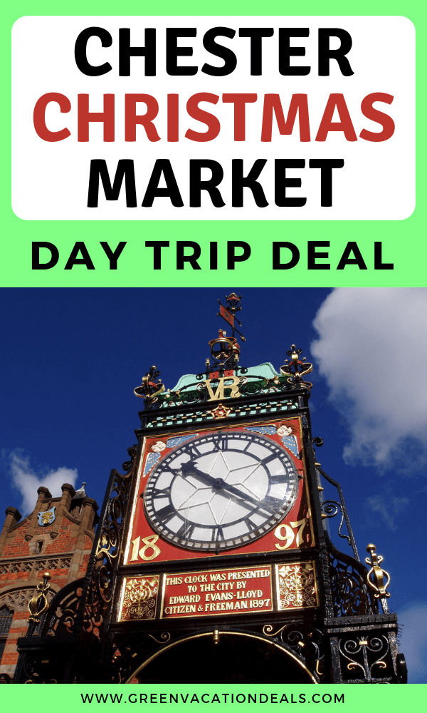 Get 10% off Chester Christmas Market Day Trip. Get round trip train transportation from Euston Railway Station in London. Get guided walking tour of Chester see the remains of the largest Roman amphitheater in the UK, The Rows (two-tier shopping galleries first built in the Middle Ages), Chester Cathedral (ancient abbey). See Christmas tree in Chester & shop at Christmas Market for crafts, jewelry, clothing, etc. for Christmas presents. Drink hot chocolate, mulled wine