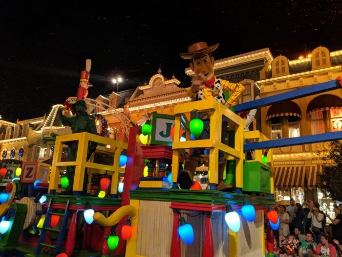Great Christmas parade at Mickey's Very Merry Christmas Party