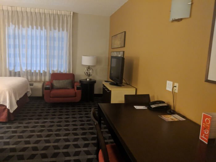 A look at the huge studio rooms available at TownPlace Suites Mooresville