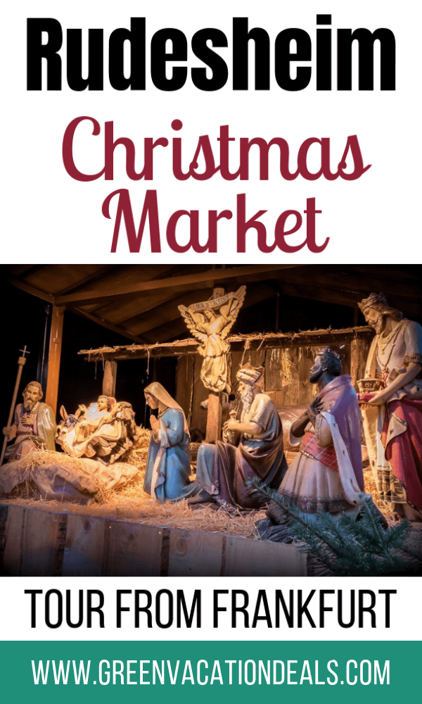 If you want a magical German holiday Experience, then consider purchasing this Rudesheim Christmas Market Tour from Frankfurt Germany - on sale at a discount of 10%! You'll get to see 120 different beautiful stalls from 12 countries at the Rudesheim Christmas market, where you can buy Wood carvings, Handicrafts, Candles, Dolls, Ceramics, Glass Art, baked goods, Ginger bread, Grilled sausage, Hot Mulled Wine, etc. Then have traditional Christmas dinner with roasted goose