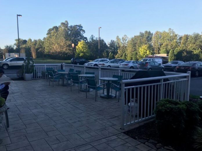 One of the great ammenities at TownPlace Suites Mooresville: BBQ area