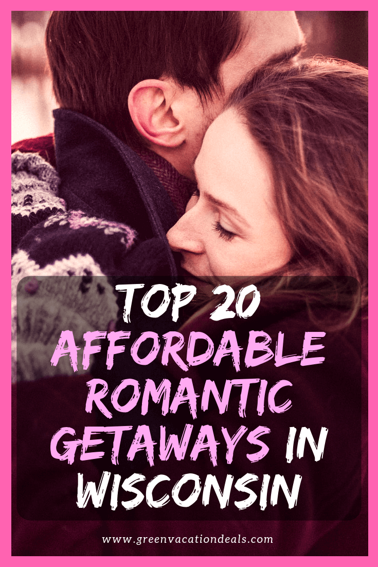 If you'd like a romantic getaway with your love in Wisconsin & don't want to break the bank, then consider booking a stay at one of these 20 hotels, rated by customers as being one of the 20 best romantic budget hotels in Wisconsin: Holiday Music Motel, Stewart Inn, Black Hawk, Washington House, Bay Shore, Eagle Harbor, Madison Concourse, Hilton Garden Inn Milwaukee Downtown, Pfister, Cedar Lodge, Lismore Hotel Eau Claire, AmericInn Waupun, Kohler, Ashbrooke, Baker...