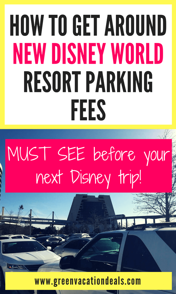 In case you haven't heard, Disney has announced that they will now be charging parking fees at their hotels: $13/night for All Star Resorts, Art of Animation, Pop Century; $19/night for Caribbean Beach, Coronado Springs, Port Orleans (French Quarter & Riverside), Fort Wilderness; $33/night for Contemporary, Polynesian, Wilderness Lodge, Animal Kingdom Lodge, Old Key West, Saratoga Springs, Beach & Yacht Club, Boardwalk, Grand Floridian. How you can get out of paying them