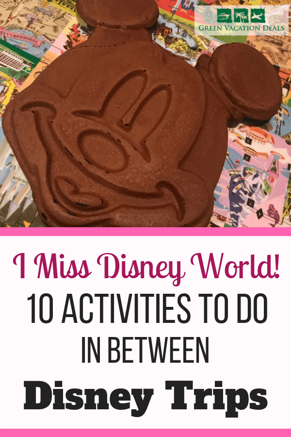 Do you miss Disney World? Here are activities you can do in between Disney World trips. Find out how to cook your favorite Disney dishes from the parks & festivals (including Mickey waffles!), how to watch videos while you exercise, listen to songs & sounds from Magic Kingdom, EPCOT, Animal Kingdom, Hollywood Studios, etc., get popcorn that takes like the parks, have family night WDW games, books to read and how to find a cheap way to get back to Disney World ASAP!