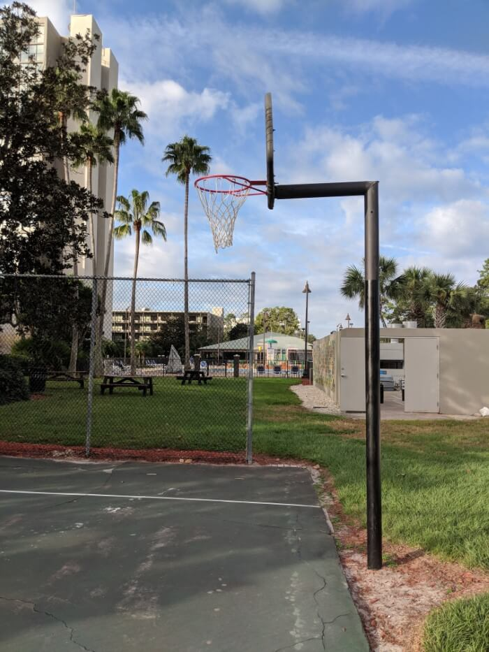 How to play basketball at affordable Disney World on-site hotel