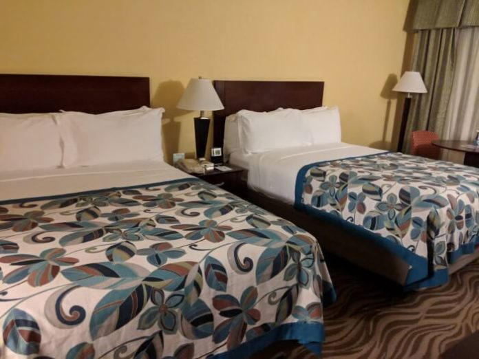 Picture of beds & room at Wyndham Garden Disney Springs hotel