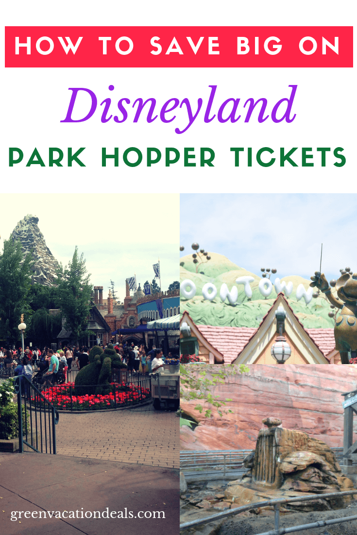 How to get discounted Park Hopper Tickets for Disneyland & Disney California Adventure theme parks in Anaheim. Great travel hack to save you over $100/person on a Southern California family vacation