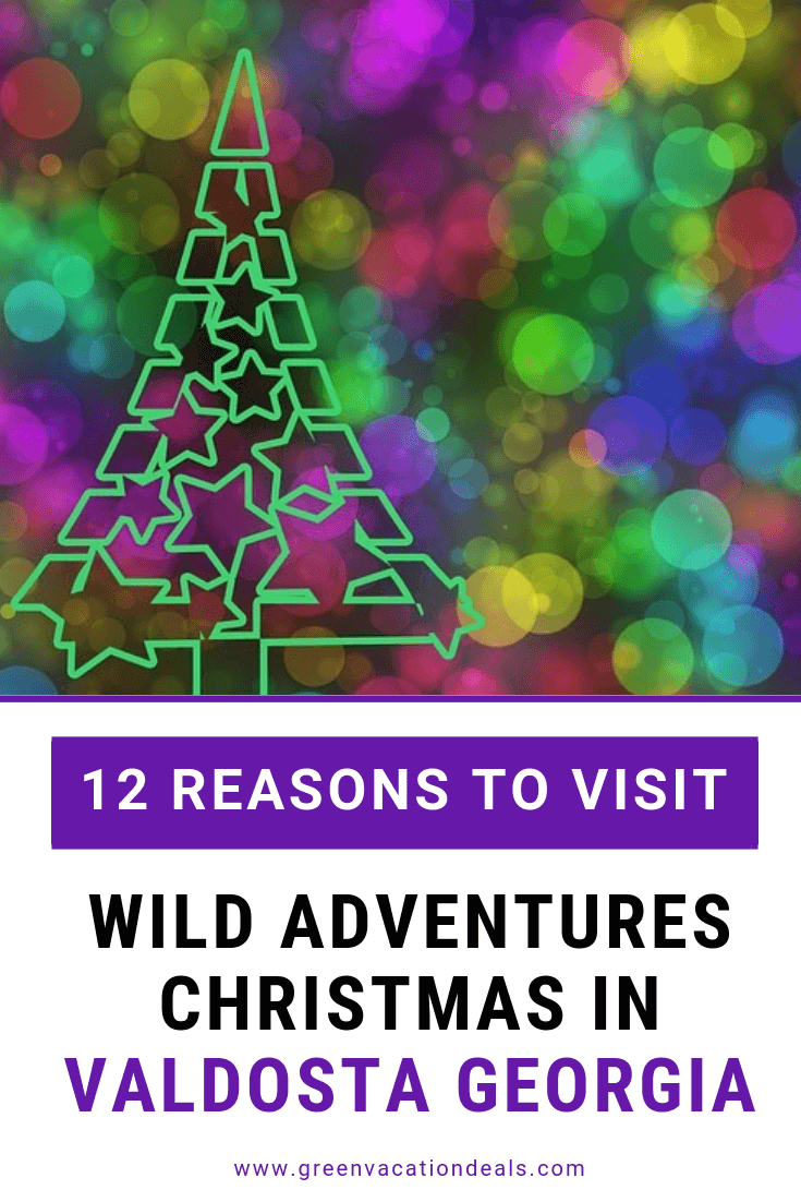 Save up to 40% on admission & up to 43% on family meal vouchers at Wild Adventures in Valdosta, Georgia for their Christmas event, where you'll see enjoy Christmas train rides, visits with Santa & Mrs. Claus, animal experiences, s'mores, snow, a Nativity reenactment & be dazzled by a 5 foot animated Christmas tree & over 1 million lights